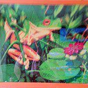 """Картины и панно ручной работы. Ярмарка Мастеров - ручная работа картина """"Лягушка"""". Handmade."""