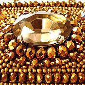 Эльдорадо -  кулон с кристаллом и хрусталем