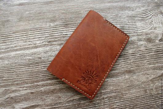 Обложки ручной работы. Ярмарка Мастеров - ручная работа. Купить Обложка на паспорт с отделами для карт Рыжая. Handmade. Рыжий