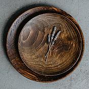 Посуда handmade. Livemaster - original item Set of Wooden Plates 2 PCs 100%#42. Handmade.