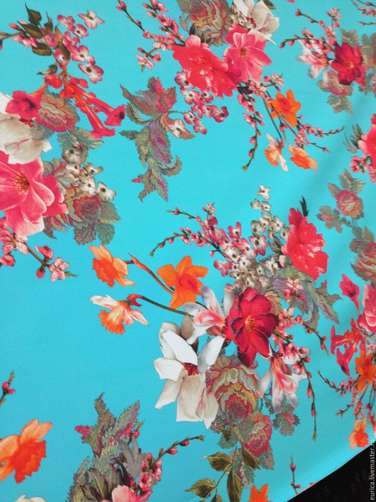 Шитье ручной работы. Ярмарка Мастеров - ручная работа. Купить Трикотаж Китайский зонтик. Италия. Handmade. Разноцветный, платье летнее