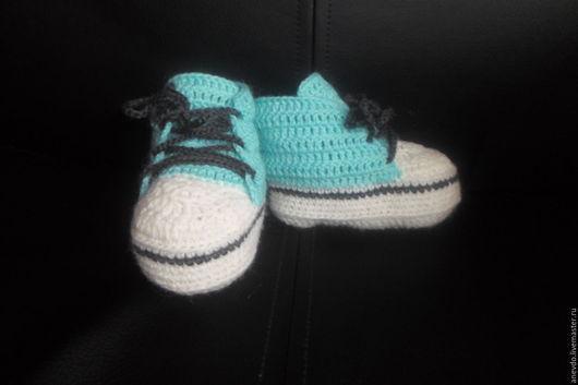 Детская обувь ручной работы. Ярмарка Мастеров - ручная работа. Купить пинетки-кеды. Handmade. Пинетки-кеды, пинетки крючком