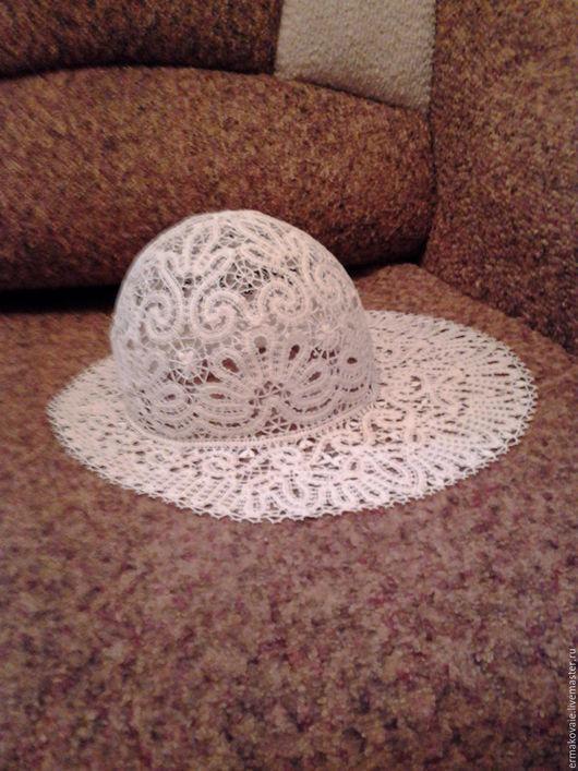 Шляпы ручной работы. Ярмарка Мастеров - ручная работа. Купить Шляпа кружевная. Handmade. Белый, коклюшечное кружево, шляпа кружевная