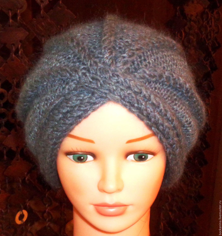 Вязание шапка чалма схема вязания спицами 411