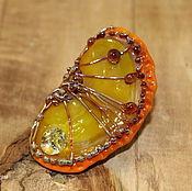Украшения handmade. Livemaster - original item Brooch Orange slice. Handmade.