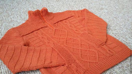 Кофты и свитера ручной работы. Ярмарка Мастеров - ручная работа. Купить джемпер для мальчика. Handmade. Рыжий, для мальчика