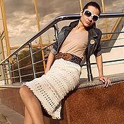 Одежда ручной работы. Ярмарка Мастеров - ручная работа Юбка вязаная в стиле Ванессы Монторо. Handmade.