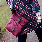 Классическая сумка ручной работы. Ярмарка Мастеров - ручная работа Burgundy. Бордовая сумочка-рюкзак. Handmade.