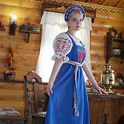 Русский стиль handmade. Livemaster - original item Sundress Vasilisa The Wise. Handmade.