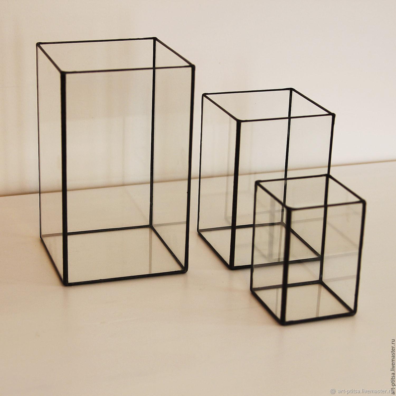 Стеклянная ваза в стиле лофт 3022