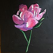 Картины и панно ручной работы. Ярмарка Мастеров - ручная работа Пион. Handmade.
