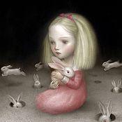 """Картины и панно ручной работы. Ярмарка Мастеров - ручная работа Картина маслом на холсте """"Алиса"""" 40/40см. Handmade."""