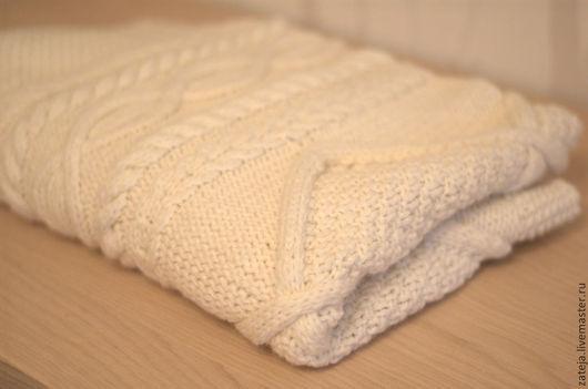 """Пледы и одеяла ручной работы. Ярмарка Мастеров - ручная работа. Купить Детский плед """"Снежинка"""". Handmade. Белый, ребенку, спицы"""