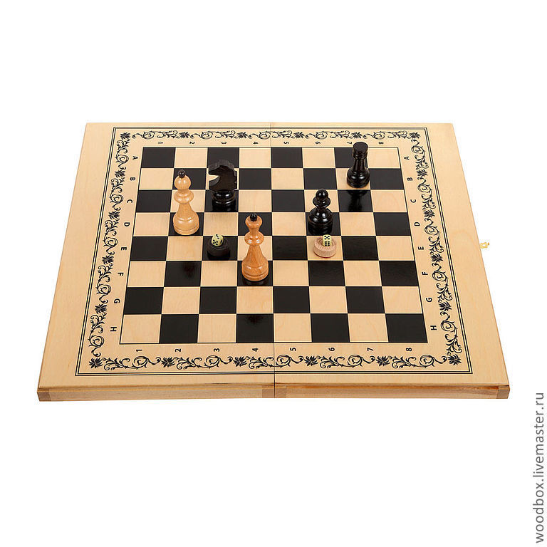 chess-checkers-backgammon 3 in 1 gift smna 63 63 cm, Chess, Moscow,  Фото №1