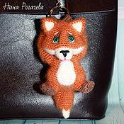 Куклы и игрушки handmade. Livemaster - original item Keychain Fox. Fox knitted. Handmade.