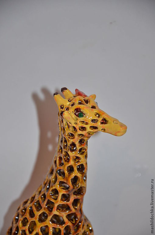 Статуэтки ручной работы. Ярмарка Мастеров - ручная работа. Купить Гордая жирафа. Подсвечник. Handmade. Желтый, подсвечник, авторская керамика