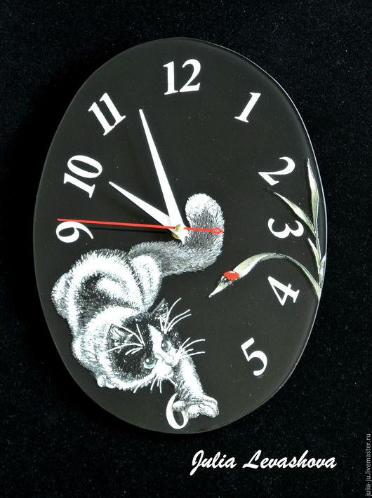 """Часы для дома ручной работы. Ярмарка Мастеров - ручная работа. Купить Часы """"Божья коровка"""". Handmade. Часы, часы интерьерные"""