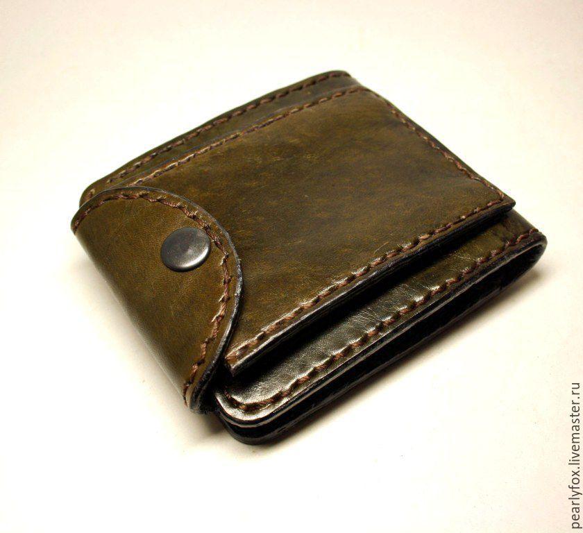 72fe86251f4e Кошельки и визитницы ручной работы. Заказать Мужской кожаный кошелек ручной  работы Одинокий волк.