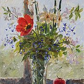 Картины и панно handmade. Livemaster - original item Sketches with flowers. Handmade.