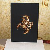 Для дома и интерьера ручной работы. Ярмарка Мастеров - ручная работа Постер 3D  -  Золотой Скорпион. Handmade.