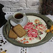 """Для дома и интерьера ручной работы. Ярмарка Мастеров - ручная работа Поднос """" Чашка чая """". Handmade."""