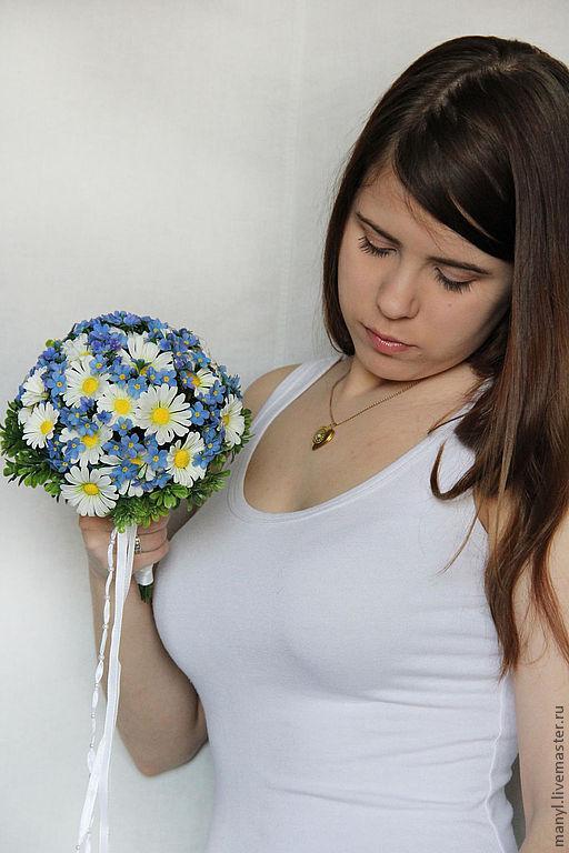 """Свадебные цветы ручной работы. Ярмарка Мастеров - ручная работа. Купить Букет невесты из полимерной глины """"Я и ты"""". Handmade."""