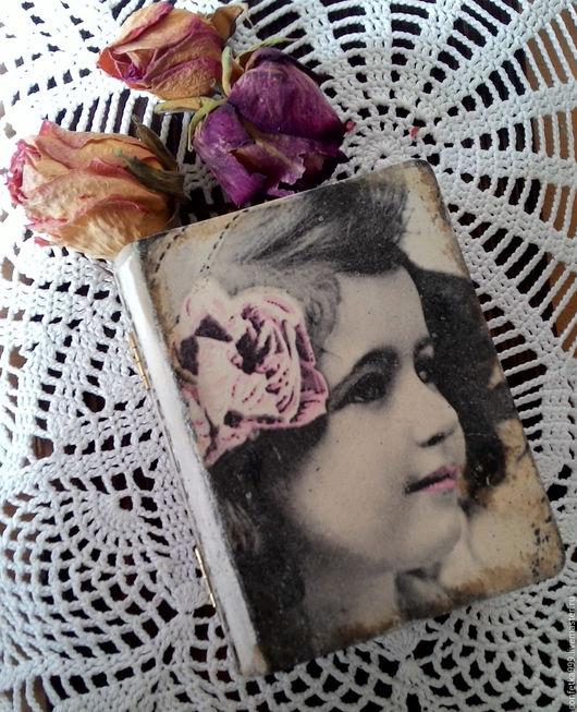 """Шкатулки ручной работы. Ярмарка Мастеров - ручная работа. Купить Книга-шкатулка """"Девочка"""". Handmade. Бежевый, подарок девочке, розы"""
