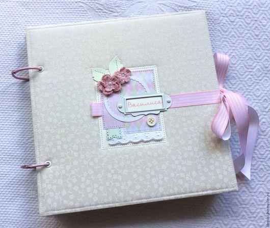 Подарки для новорожденных, ручной работы. Ярмарка Мастеров - ручная работа. Купить Альбом для малышки. Handmade. Бледно-розовый, альбом для фотографий