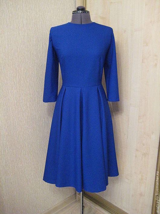 """Платья ручной работы. Ярмарка Мастеров - ручная работа. Купить Платье """"Синий сапфир"""". Handmade. Тёмно-синий, платье на выход"""