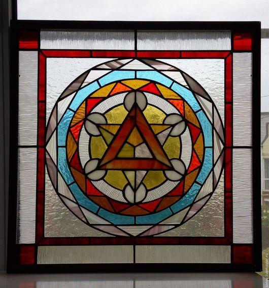 Освещение ручной работы. Ярмарка Мастеров - ручная работа. Купить Светильник красный треугольник. Handmade. Комбинированный, красный цвет, пирамида
