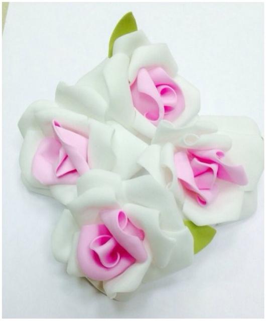 Материалы для флористики ручной работы. Ярмарка Мастеров - ручная работа. Купить Цветы искусственные из фоамирана, с розовой серединкой, 7см. Handmade.