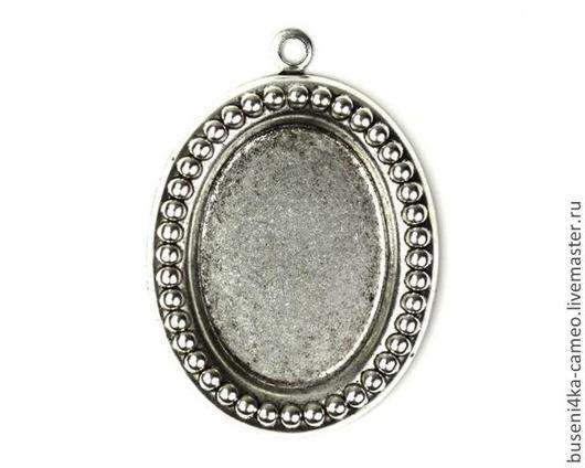 Для украшений ручной работы. Ярмарка Мастеров - ручная работа. Купить Оправа Бусинки 18х25мм, античное серебро (1шт). Handmade.
