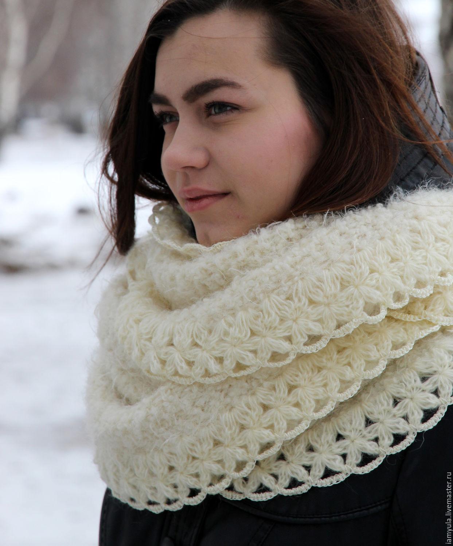 вязание снуда шарфа коул