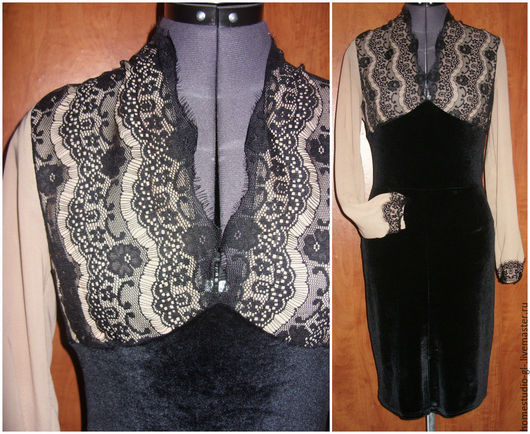 """Платья ручной работы. Ярмарка Мастеров - ручная работа. Купить Платье """"Черный бархат """". Handmade. Черный, платье вечернее"""