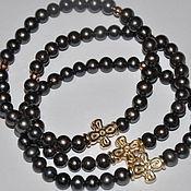 Четки- браслет из жемчуга и золота