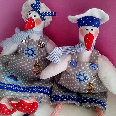 Куклы и игрушки ручной работы. Ярмарка Мастеров - ручная работа Гуси. Моряки. Пара. Handmade.