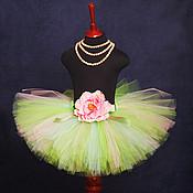 """Одежда ручной работы. Ярмарка Мастеров - ручная работа """"Яблочное настроение"""" юбка-пачка из фатина. Handmade."""