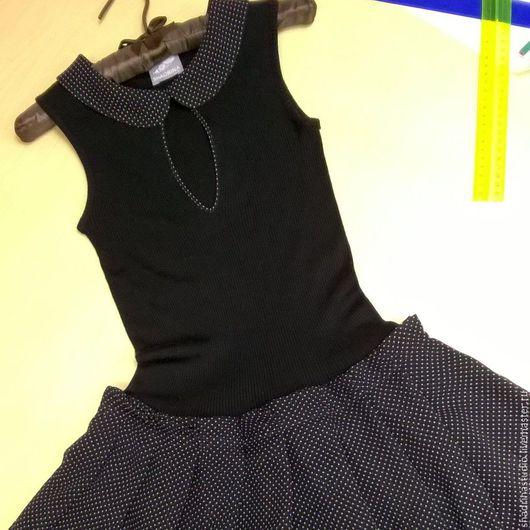 Платья ручной работы. Ярмарка Мастеров - ручная работа. Купить Платье. Handmade. Чёрно-белый, платье коктейльное, шифон натуральный