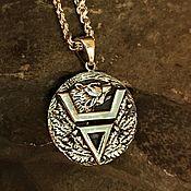 Русский стиль handmade. Livemaster - original item Veles double-sided symbol. Handmade.