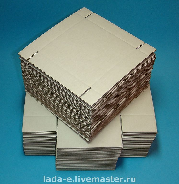 Box BLANK (price per pack of 50 pieces) color brown, Box1, Moscow,  Фото №1