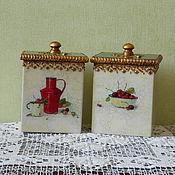 """Для дома и интерьера ручной работы. Ярмарка Мастеров - ручная работа Набор коробок """" Фруктовая карамель"""". Handmade."""