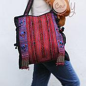 """Сумки и аксессуары ручной работы. Ярмарка Мастеров - ручная работа Вместительная сумка """"Hmong Red"""". Handmade."""