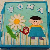 Куклы и игрушки handmade. Livemaster - original item Personalized Quiet soft felt book. Handmade.