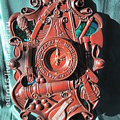 """Для дома и интерьера ручной работы. Ярмарка Мастеров - ручная работа Настенные часы """"Козацькому роду..."""". Handmade."""