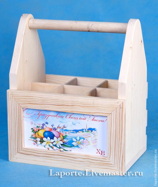 Деревянный ящик с фоторамкой. Массив сосна с перегородками из фанеры.