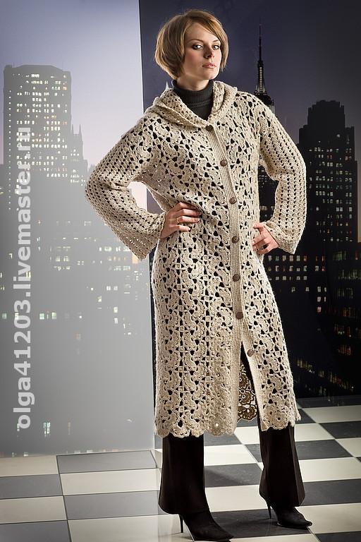 """Верхняя одежда ручной работы. Ярмарка Мастеров - ручная работа. Купить Пальто """"Лента"""". Handmade. Ажурный палантин, ярмарка мастеров"""