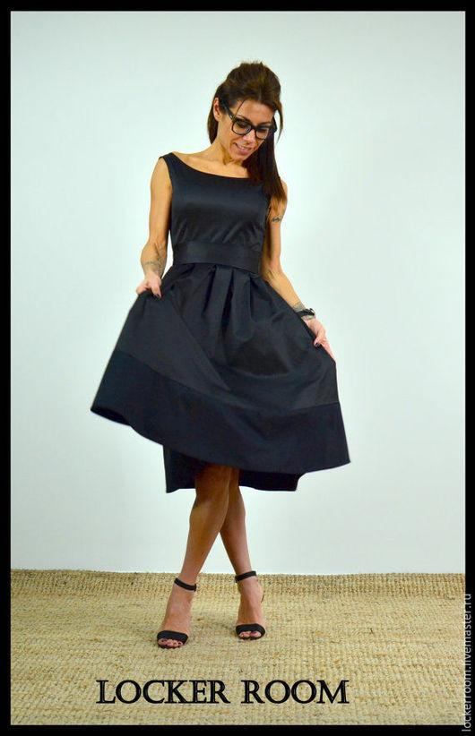 красивое черное платье, модное платье, нарядное платье, платье миди, платье без рукавов, нарядное платье, платье на праздник