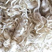 """Материалы для творчества ручной работы. Ярмарка Мастеров - ручная работа Кудри/флис ангорской козы породы """"Mohair"""". Белый.. Handmade."""