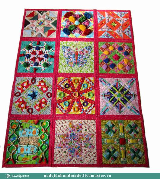 Развивающие игрушки ручной работы. Ярмарка Мастеров - ручная работа. Купить Массажный коврик развивающий коврик -Трансформер на 12 секторов. Handmade.