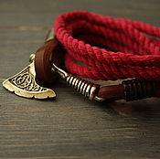 Украшения handmade. Livemaster - original item Men`s bracelet ,bracelet with axe charm bracelet Vikings. Handmade.